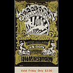BG # 142 Jefferson Airplane Fillmore Friday ticket BG142