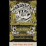 BG # 142 Jefferson Airplane Fillmore Friday ticket BG142