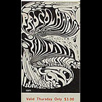 BG # 143 Procol Harum Fillmore Thursday ticket BG143