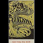 BG # 143 Procol Harum Fillmore Friday ticket BG143