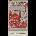 BG # 144 Quicksilver Messenger Service Fillmore Sunday ticket BG144