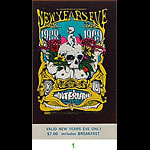BG # 152 Grateful Dead Fillmore Tuesday NYE ticket BG152