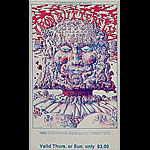 BG # 157 Iron Butterfly Fillmore Thursday - Sunday ticket BG157