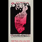BG # 160 Santana Fillmore Thursday - Sunday ticket BG160