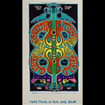 BG # 166 Butterfield Blues Band Fillmore Thursday - Sunday ticket BG166