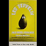 BG # 170 Led Zeppelin Fillmore Thursday - Sunday ticket BG170