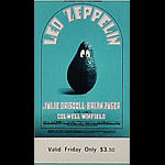 BG # 170 Led Zeppelin Fillmore Friday ticket BG170