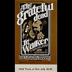 BG # 176 Grateful Dead Fillmore Thursday - Sunday ticket BG176