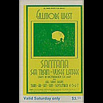 BG # 190 Santana Fillmore Saturday ticket BG190