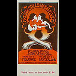 BG # 194 Crosby Stills Nash & Young Fillmore Thursday - Sunday ticket BG194