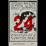 BG # 197 Jefferson Airplane Fillmore Friday ticket BG197