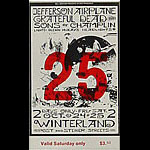 BG # 197 Jefferson Airplane Fillmore Saturday ticket BG197
