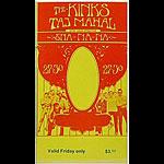 BG # 204 Kinks Fillmore Friday ticket BG204