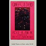 BG # 205 Grateful Dead Fillmore Thursday - Sunday ticket BG205