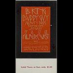 BG # 212 B.B. King Fillmore Thursday - Sunday ticket BG212