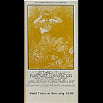 BG # 231 Jethro Tull Fillmore Thursday - Sunday ticket BG231