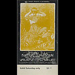 BG # 231 Jethro Tull Fillmore Saturday ticket BG231