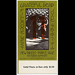 BG # 237 Grateful Dead Fillmore Thursday - Sunday ticket BG237
