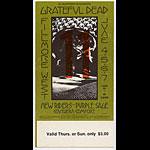 BG # 237 Grateful Dead Fillmore Thursday - Sunday ticket BG237