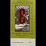 BG # 237 Grateful Dead Fillmore Friday ticket BG237