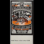 BG # 248 Santana Fillmore Thursday - Sunday ticket BG248
