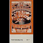 BG # 248 Santana Fillmore Saturday ticket BG248