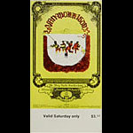 BG # 251 Van Morrison Fillmore Saturday ticket BG251