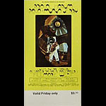 BG # 254 Procol Harum Fillmore Friday ticket BG254