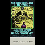 BG # 271 New Riders of the Purple Sage Fillmore Thursday - Sunday ticket BG271