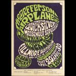 BG # 4-1 Jefferson Airplane Fillmore Poster BG4