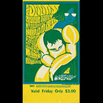 BG # 93 Doors Fillmore Friday ticket BG93