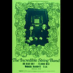 BG # ISBg-1 Incredible String Band Fillmore Poster BGISBg