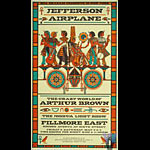 BG # NY6-1 Jefferson Airplane Fillmore postcard - stamp back BGNY6