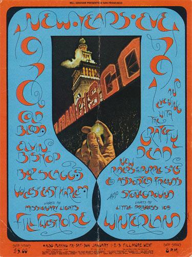 BG # 263 Cold Blood Fillmore Thursday NYE ticket BG263