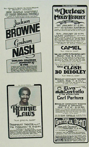 Randy Tuten The Clash Handbill
