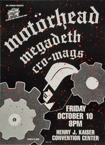 Motorhead Bill Graham Presents Poster BGP6