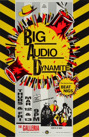 Big Audio Dynamite Bill Graham Presents BGP8 Poster
