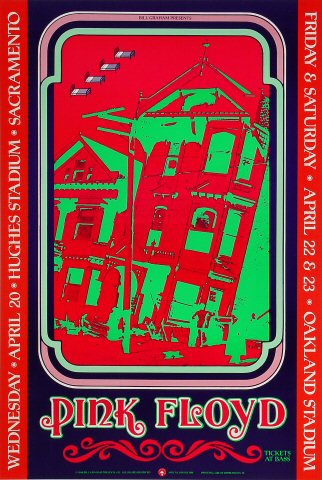 Pink Floyd Bill Graham Presents Poster BGP22
