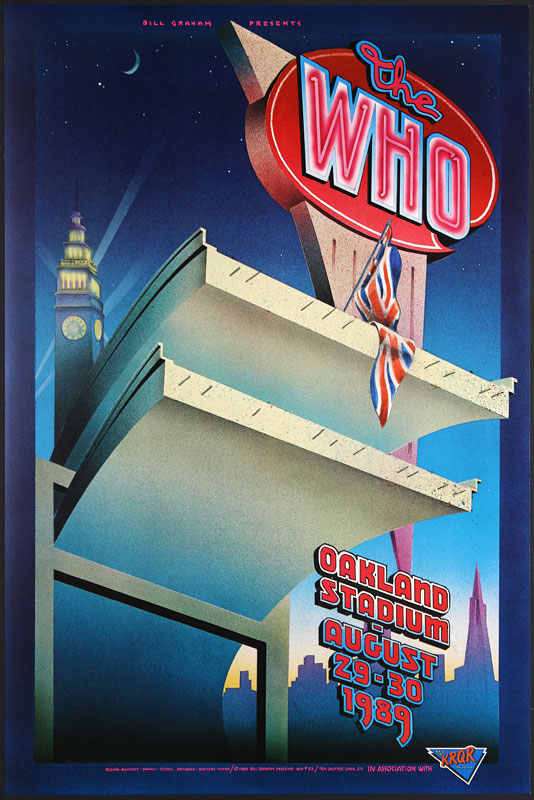 The Who Bill Graham Presents BGP32a Poster