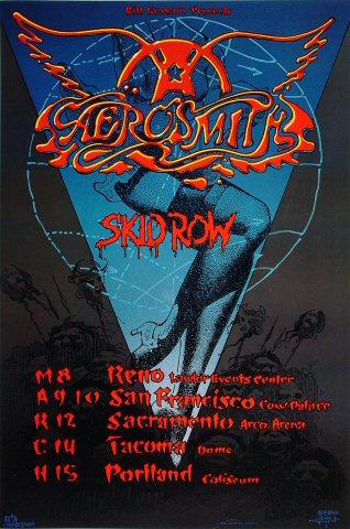 Aerosmith 1990 BGP36 Uncut Proof Sheet