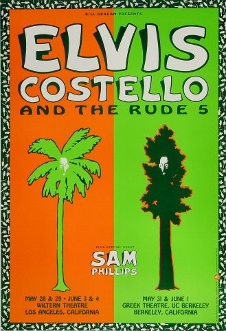 Elvis Costello 1991 BGP45 Poster