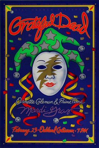Grateful Dead (Mardi Gras) Bill Graham Presents Poster BGP72