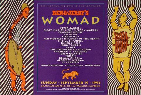Womad - Peter Gabriel Bill Graham Presents BGP79 Poster