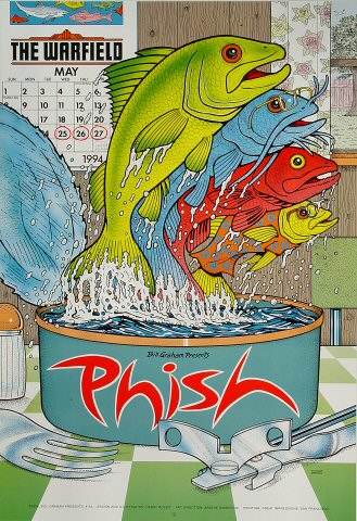 Phish Bill Graham Presents BGP93 Poster