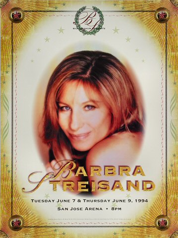 Barbra Streisand Bill Graham Presents BGP94 Poster