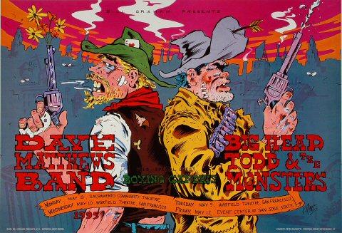 Dave Matthews Band 1995 Warfield BGP111 Poster