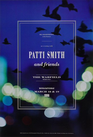 Patti Smith Bill Graham Presents BGP138 Poster