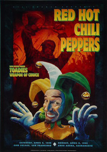 Red Hot Chili Peppers 1996 BGP140 Poster