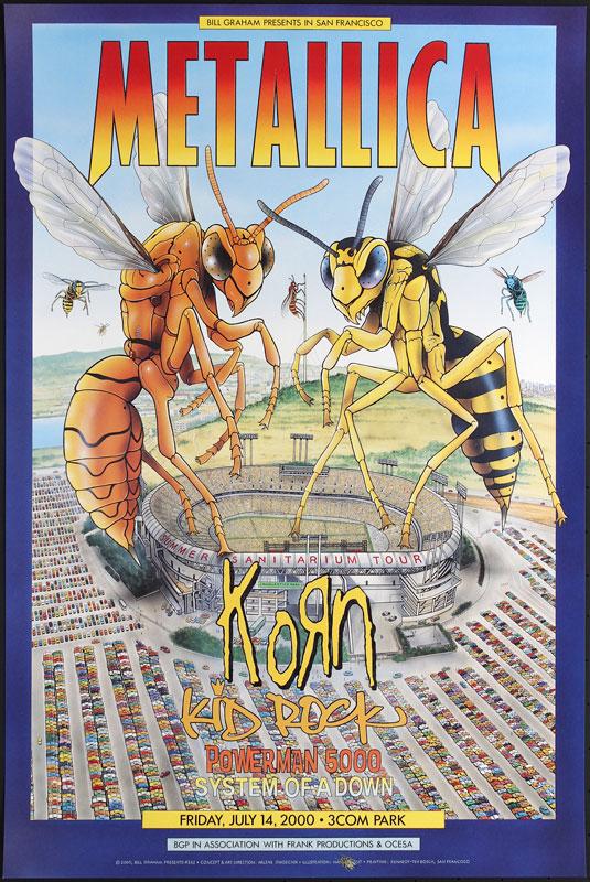 Metallica Bill Graham Presents Poster BGP242