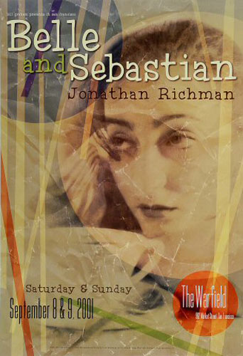 Belle and Sebastian 2001 Warfield BGP268 Poster